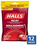 Halls Triple Soothing Action Cough Drops, Cherry, 80 Count