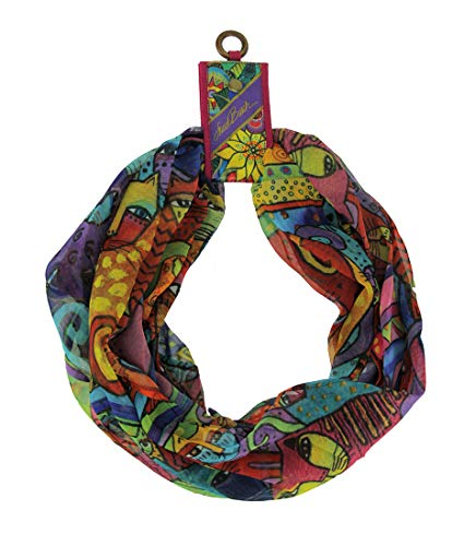 Laurel Burch Artistic Infinity Scarf Collection (Feline Tribe)