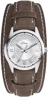 s.Oliver - SO-2616-LQ - Montre Femme - Quartz Analogique - Aiguilles Lumineuses - Bracelet Cuir Marron