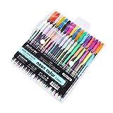 MALATA 24 36 48 colores Set de bolígrafos de gel Rellenos metálicos Pastel Neon Glitter Sketch Drawing Color Pen Rotulador de papelería escolar para regalos de niños, 36 colores