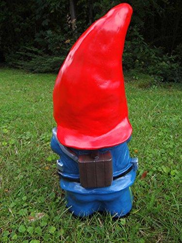 Gartenzwerg Feuerwehrmann aus bruchfestem PVC Zwerg Made in Germany Figur - 5