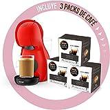 Krups Dolce Gusto Piccolo XS • Macchina da caffè manuale 15 bar • Caffettiera espresso e altre bevande + 48 capsule + 10 € in buono regalo (rosso + 48 capsule INTENSO)