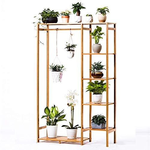 Shelves Flower Holder Flower Rack Plant Stand, Wood Shelves Display Shelf Indoor Outdoor MULTIfunctional Storage Rack Bookshelf For Home & Garden Lovers-Bonsai Display Shelf 90x30x145cm(35x12x57inch)