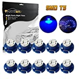 Partsam T5 T4.7 Neo Wedge Instrument Dashboard LED Light Bulbs 12mm A/C Climate Heater Controls Instrument Panel Gauge Cluster Dashboard LED Light Bulbs Set