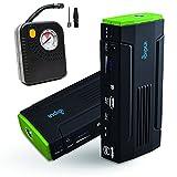 inDigi Powerful 12V Power Bank Car Jump Starter Tire Air Compressors & Inflators Power Bank for iPhone Cellphone iPad Tablet Laptop Notebook PSP Camera GPS