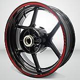 Gloss Rojo Titan Outer Rim Liner Stripe Pegatinas para Ducati Multistrada 1200