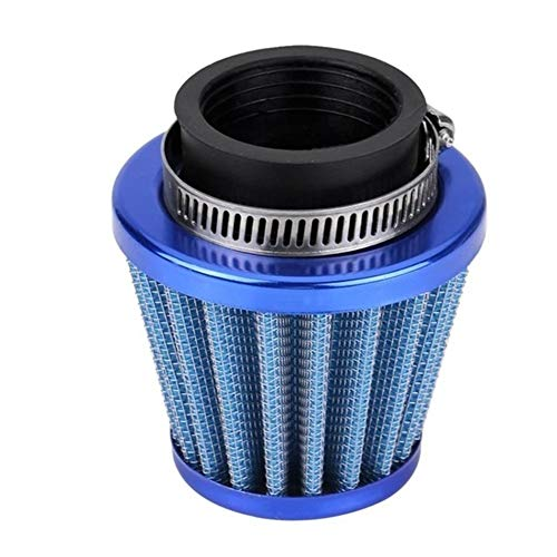 38mm Luftfilter Einlass Induction Kit Universal-Fit for Off-Road-Motorrad-ATV Quad Dirt Pit Bike Pilz-Kopf-Luftfilterreiniger B (Color : Blue)