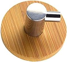 1 stks Lijm Natuurlijke Bamboe Rvs Haak Muur Kleding Tas Hoofdtelefoon Sleutel Hanger Keuken Badkamer Deur Handdoek Roestv...