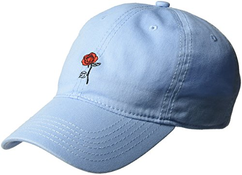 Concept One Women's Belle Rose Beauty and The Beast Baseball Cap, 100% Cotton, Light Blue, One Size
