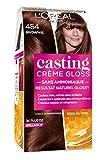 L'Oréal Paris Casting Crème Gloss Coloration Ton sur Ton pour Cheveux - Sans Ammoniaque - Brownie (454)