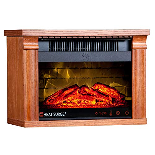 Heat Surge Mini-Glo Efficiency Plus Touch With Remote (Dark Oak)