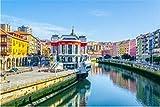 NOBRAND Rompecabezas 1000 Piezas Ribera Market In The Spanish City Bilbao para Regalo Adulto