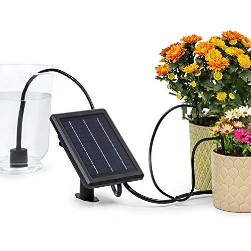 blumfeldtGreenkeeper Solar Sistema de riego - Riego automático, hasta 40 Plantas de Maceta y de jardín, Panel Solar, Unidad de Control programable, Mangeras, Acopladores, Filtro de partículas, Negro