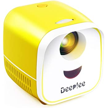 Mini Projector, DeepLee Portable Projector for Kids LED Video Projector for Home Theater, Compatible with TV Stick USB/AV/TF/HDMI, Ideal for Home Entertainment