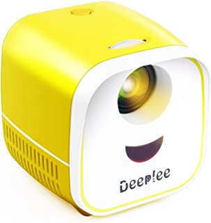 Deeplee Mini Projector Portable Projector for Kids LED LCD Video Projector for Home Theater, Compatible with TV Stick USB/...