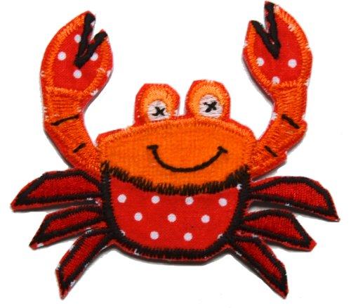 TrickyBoo 2 opstrijkbare krabbe 8 x 8 cm schaap 8 x 7 cm set patch applicaties voor het repareren van kinderkleding met design Zürich Zwitserland voor Duitsland en Oostenrijk