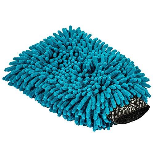 Chemical Guys Chenille Premium Scratch-Free Microfiber Wash Mitt, Blue, Model Number: MIC811