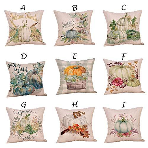 Fasclot Halloween Ornaments Pumpkin Pattern Cushion Cover Cotton Pillowcase Home & Garden Pillow Case