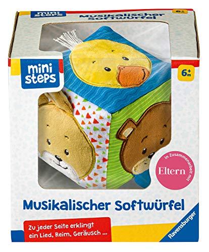 Ravensburger ministeps 04162 Musikalischer Softwürfel, Yellow