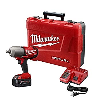Milwaukee 2763-21XC FUEL 18-Volt Lithium-Ion Brushless 1/2  inch Cordless High Torque Impact Wrench with (1) Redlithium XC 5.0Ah Battery