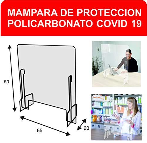 Mampara Protección 78 x 65 x 20cm - Safe Wall - Separador