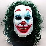 chachacha Joker Joker Maske Halloween Schwarz-Weiß Joker Maske Batman Parodie Horror Prom...