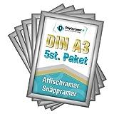 DisplayLager - 5 Klapprahmen DIN A3   Plakatrahmen mit 25mm