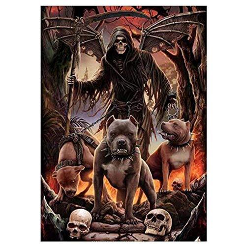 Lcyab Rompecabezas Grim Reaper Y Evil Dog 1000 Piezas Niños Y Adultos Juego De Juguetes De Madera Educativo
