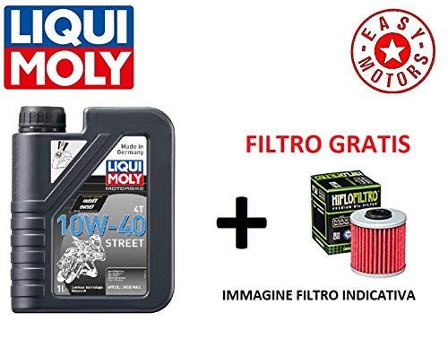 Genérico Motor WARTUNGSSATZ EIN Liter ÖL Marke LIQUI Moly + ÖLFILTER PGO Buggy/Bug Rider 125