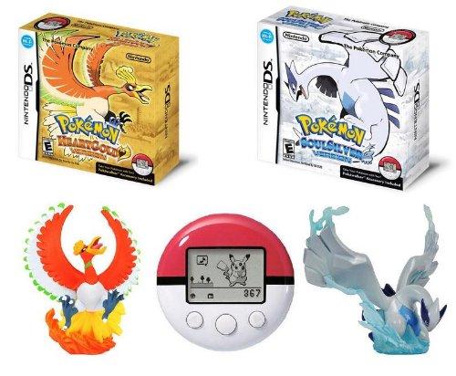 "Pokemon Heart Gold Soul Silver set benefits original figure ""Ho-oh"", ""Lugia"", ""Arceus"" with (japan import)"