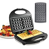 Waffle Maker, 750W Electric Waffles Maker Iron Sandwich Maker Machine Bubble Egg Cake