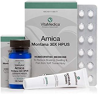 VitaMedica Arnica Montana Bruise Kit - Arnica Blister Pack, Arnica Tabs & Arnica Cream