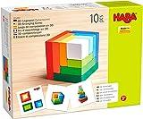 HABA - Jeu d'assemblage en 3D - Cubes en bois multicolores - 305460 - Jouet en bois - Dès 3 ans