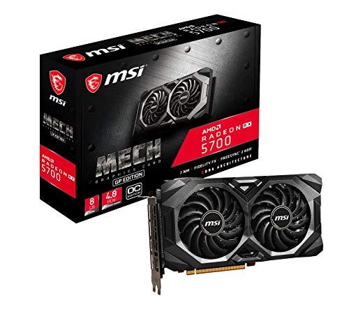MSI Gaming Radeon RX 5700 Boost Clock: 1750 MHz 256-bit 8GB GDDR6 DP/HDMI Dual Torx 3.0 Lüfter Crossfire Navi AMD Radeon FreeSync Grafikkarte (RX 5700 MECH GP OC)