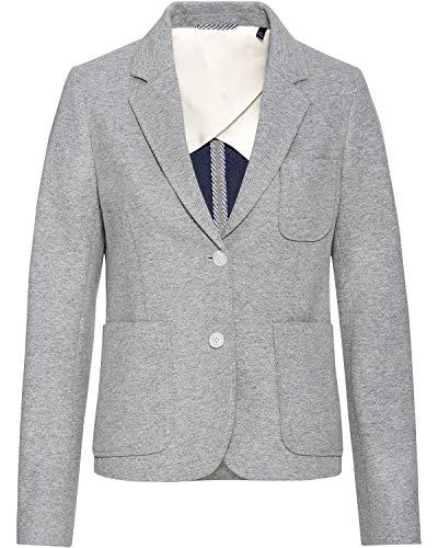 Gant D1. TP Jersey Pique Slim Blazer, Gris, 42 para Mujer