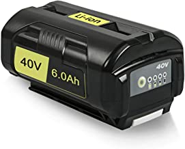 Amityke 6000mAh 40V Lithium-Ion Battery Compatible with Ryobi 40Volt Collection Cordless Power Tools Li-ion Battery OP4015 OP4026 OP40201 OP40261 OP4030 OP40301 OP40401 OP4050 OP40501 OP40601