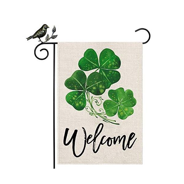 AENEY B66 St Patricks Day Garden Flag Vertical Double Sided Decorative Shamrock Welcome...