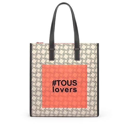 TOUS Shopping Grande Amaya Logogram Beige (095890672)