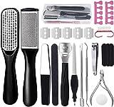 Kit per pedicure,23 in 1 kit di strumenti per pedicure professionale,Pedicure in...