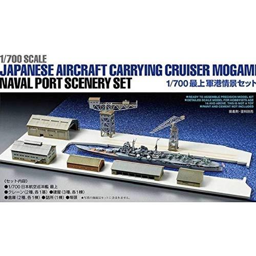 Tamiya - Maqueta de barco japonés Aircraft Carrying Cruiser Mogami Naval Port Scenery Set