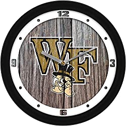SunTime Wake Forest Demon Deacons - Weathered Wood Wall Clock