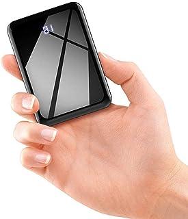 モバイルバッテリー 軽量 小型 13800mAh 大容量 コンパクト 携帯バッテリー (PSE認証済) LCD残量表示 鏡面仕上げデザイン 持ち運び便利 急速充電 充電器 薄型 ミニ 携帯充電器 iPhone/Android/docomo/so...