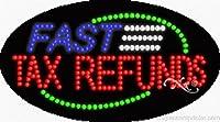 Fast税金Refunds Flashing &アニメーションLEDサイン( High Impact、エネルギー効率的な)