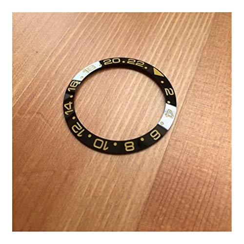 SSGLOVELIN 38mm Piezas de reemplazo de cerámica RLX Reloj del embellecedor Frontal for Rolex Oyster Perpetual GMT-Master II 116718LN 116710LN automático del Reloj (Color : Multicolor)