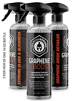 SPARTANSTRONG Graphene Car Detail Spray Newest Technology  Year 2021  Ceramic Nano Carbon Silicon Dioxide for Detailing – Quick Waterless Detailer for Instant Shine and Gloss 1 16Oz Bottle