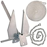 WindRider Boat Anchor Kits | Includes Galvanized Fluke Anchor, Rope, Shackles, Chain | Boats from 18-32ft