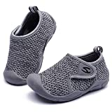 GUBARUN Toddler Boys Girls Sneakers Kids Lightweight Tennis Shoes Breathable(Grey Toddler 7)