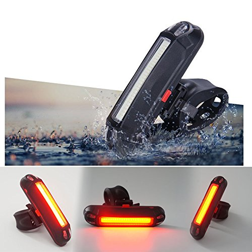 Xcellent Global Luz trasera USB recargable para bicicleta o casco. Luz LED de 100 lúmenes LD100R
