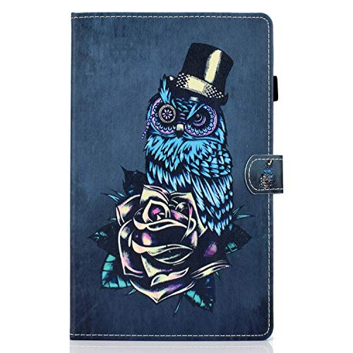 zl one Compatible con/reemplazo para Tablet PC Samsung Galaxy Tab A 10.1 'SM-T580/T585 PU cuero Flip Cover Stand Magnetic Wallet Case (Owl)