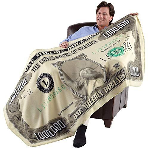 Runsmooth Million Dollar Blanket Manta de Lana para niños y Adultos, súper Suave, cálida, Ligera, Impresa en 3D, Mantas de Franela para sofá Cama, 180 x 90 cm